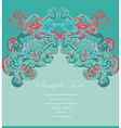 art for decoration card vector image vector image
