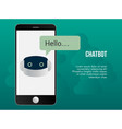 automated chatbot concept design template vector image
