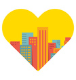 background a large city in the heart vector image