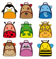 backpacks for school children vector image vector image