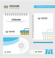 basket logo calendar template cd cover diary and vector image vector image