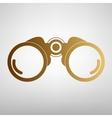 Binocular sign Flat style icon vector image vector image