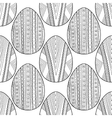 Black and white seamless pattern of decorative vector image vector image