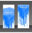 blue watercolor design elements banners vector image vector image