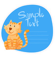 Border design with ginger cat vector image