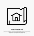 building construction map house line icon vector image