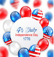 celebration card for independence day usa vector image vector image