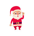 christmas santa claus single flat icon vector image