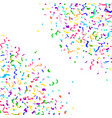 colorful bright falling confetti and ribbon vector image