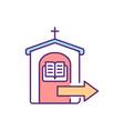 confessing sins rgb color icon vector image