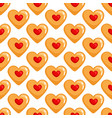 cookies hearts seamless pattern vector image