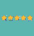 customer reviews feedback five stars flat vector image