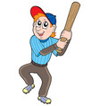 cute baseball player vector image