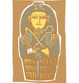 Egyptian Sarcophagus Color vector image vector image