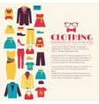 Fashion clothing infographics template concept vector image vector image
