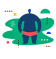 fat man standing and watching forward creative vector image vector image