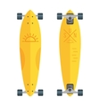 flat longboards isolated on white vector image vector image