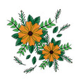 flowers natural leaves branch botanical vector image vector image