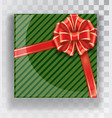 gift box green christmas gift boxes isolated on a vector image vector image