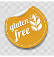 gluten free sticker isolated transparent vector image vector image