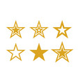 gold stars icons symbols star isolated on vector image