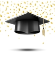 Graduation cap education concept background vector image vector image