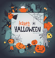 halloween frame poster or greeting card vector image