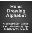 hand drawing alphabet with chalk effect vector image vector image