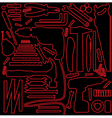 Hardware tools outline vector image vector image