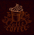 lettering hand drawing theme coffee vector image