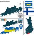 map uusimaa finland vector image