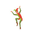 medieval jester character on a vector image vector image