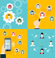 Modern Business Concept The idea of teamwork and vector image vector image