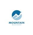 mountain peak statistics arrow financial logo vector image vector image