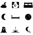 night icon set vector image vector image