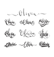 Personal name tattoo Olivia vector image vector image