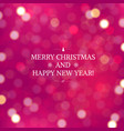 pink blurred xmas background vector image