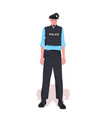 policeman in tactical gear riot police officer vector image vector image