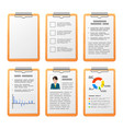 realistic checklist on wooden board isolated vector image
