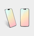 realistic smartphone mockup front side and angle vector image
