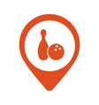 red location icon for bowling vector image
