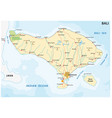 road map of the indonesian island of bali vector image vector image