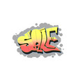 sale lettering in style street graffiti vector image