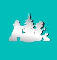 Santa Christmas tree snowman rabbit vector image vector image