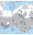 seamless pattern in scandinavian winter vector image