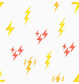 seamless pattern with lightning bolt vector image vector image
