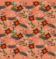seamless pattern with poinsettias vector image vector image