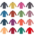 Set of colored shirts vector image vector image