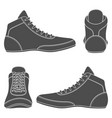 set with wrestling shoes vector image vector image