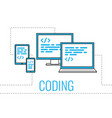 simple for coding web site vector image vector image